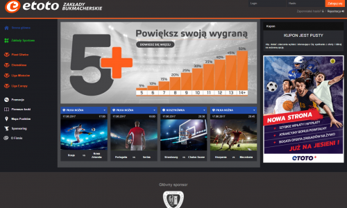Strona internetowa E-toto