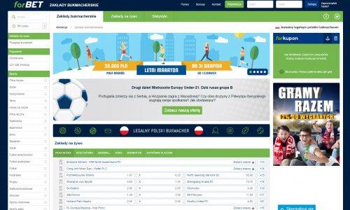Strona internetowa forBET