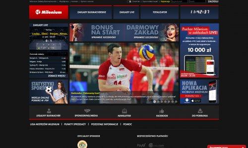 Strona internetowa Milenium